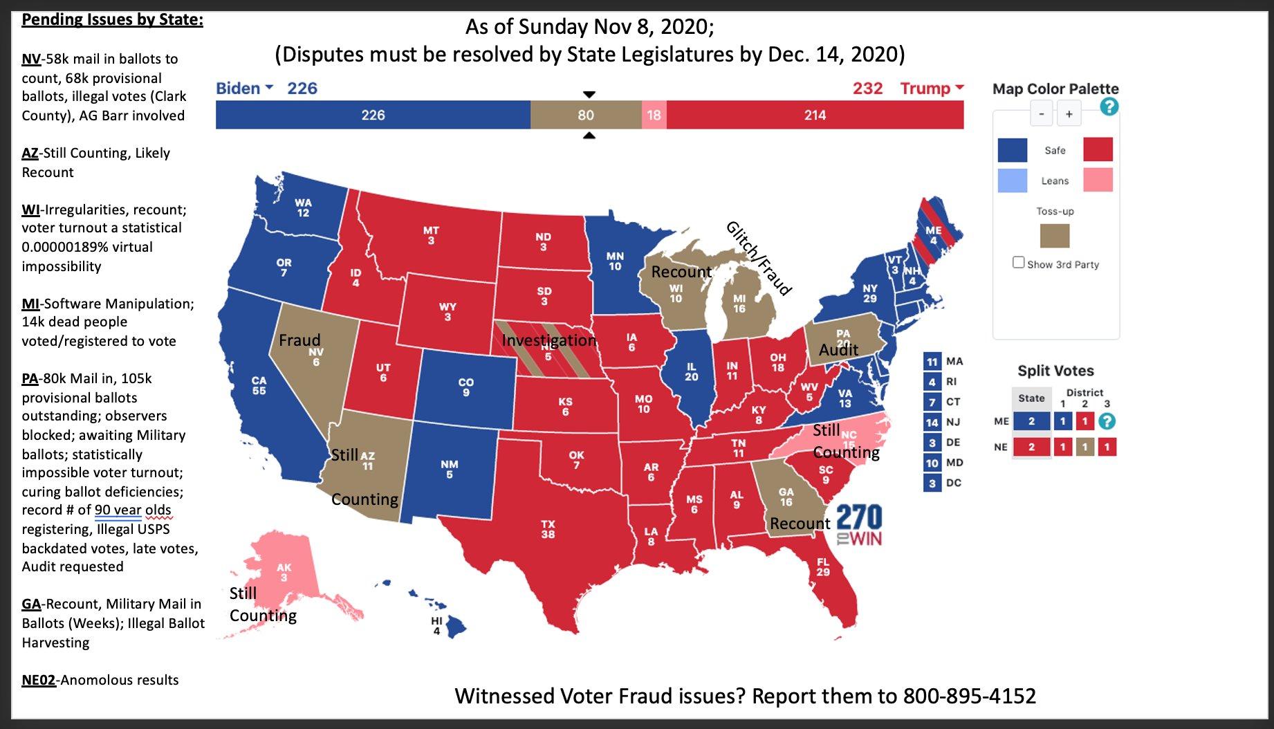 amerikaanse verkiezingen zondag 8 november
